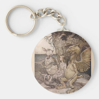 Alice in Wonderland and the Mock Turtle Keychain