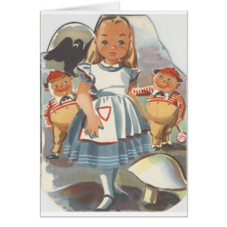 Alice in Wonderland and Tweedle Dee & Tweedle Dum Card
