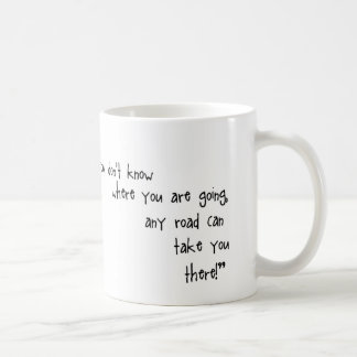 Alice in Wonderland Any road can take you mug
