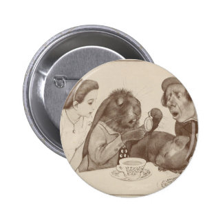 Alice in Wonderland, at the Tea Table 2 Inch Round Button
