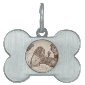 Alice in Wonderland, at the Tea Table Pet Tags