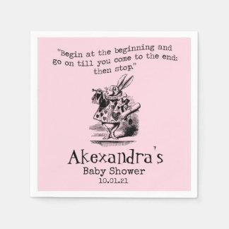 Alice In Wonderland Baby Shower Paper Napkin
