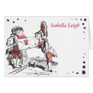Alice In Wonderland Bat Mitzvah Thank You Card