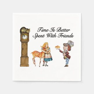 Alice In Wonderland Better With Friends Paper Napkins