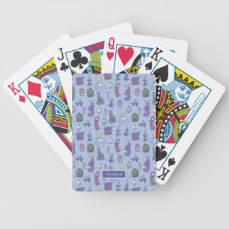 Alice In Wonderland | Blue Monogram Pattern Bicycle Playing Cards