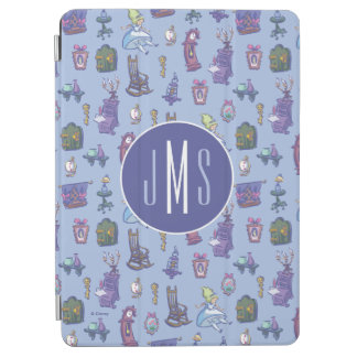 Alice In Wonderland | Blue Monogram Pattern iPad Air Cover