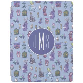 Alice In Wonderland   Blue Monogram Pattern iPad Cover