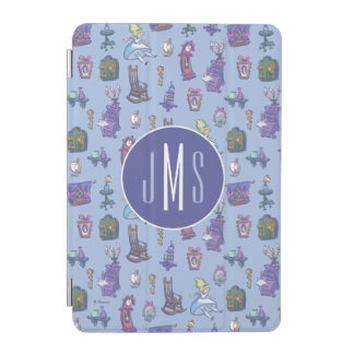 Alice In Wonderland | Blue Monogram Pattern iPad Mini Cover