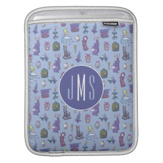 Alice In Wonderland | Blue Monogram Pattern iPad Sleeve