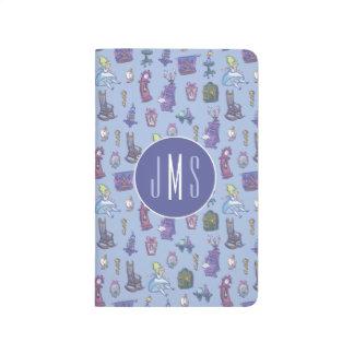 Alice In Wonderland | Blue Monogram Pattern Journal