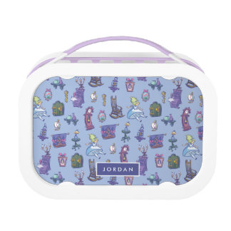 Alice In Wonderland | Blue Monogram Pattern Lunch Box