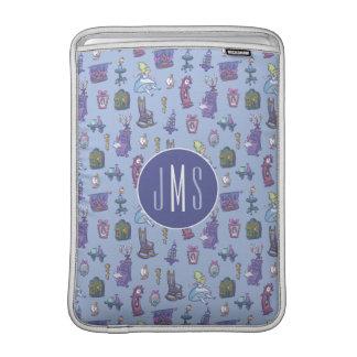 Alice In Wonderland | Blue Monogram Pattern MacBook Sleeve