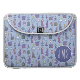 Alice In Wonderland | Blue Monogram Pattern Sleeve For MacBook Pro