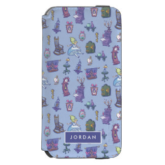 Alice In Wonderland | Blue Pattern - Add Your Name Incipio Watson™ iPhone 6 Wallet Case