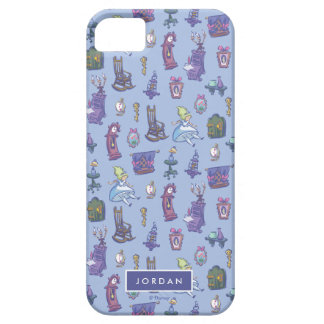 Alice In Wonderland | Blue Pattern - Add Your Name iPhone 5 Cases