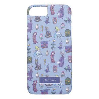 Alice In Wonderland | Blue Pattern - Add Your Name iPhone 8/7 Case