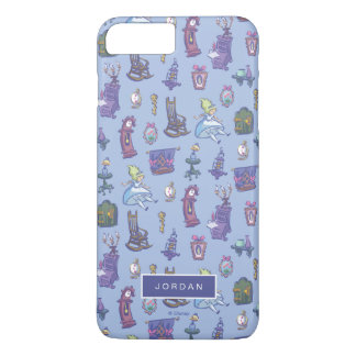 Alice In Wonderland | Blue Pattern - Add Your Name iPhone 8 Plus/7 Plus Case