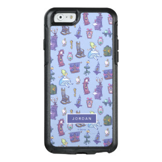 Alice In Wonderland | Blue Pattern - Add Your Name OtterBox iPhone 6/6s Case