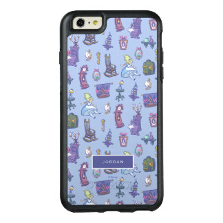 Alice In Wonderland | Blue Pattern - Add Your Name OtterBox iPhone 6/6s Plus Case