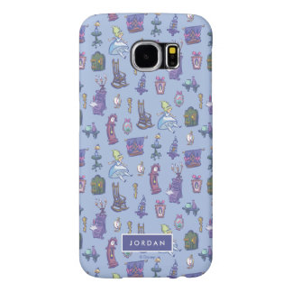 Alice In Wonderland | Blue Pattern - Add Your Name Samsung Galaxy S6 Cases