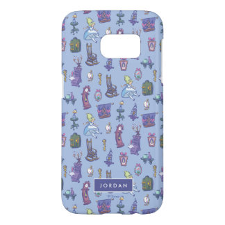Alice In Wonderland | Blue Pattern - Add Your Name Samsung Galaxy S7 Case