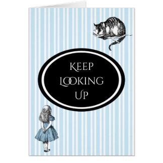 Alice in Wonderland Blue Stripe Encouragement Card