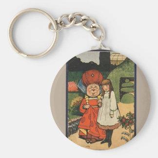 Alice in Wonderland Book Cover Basic Round Button Keychain