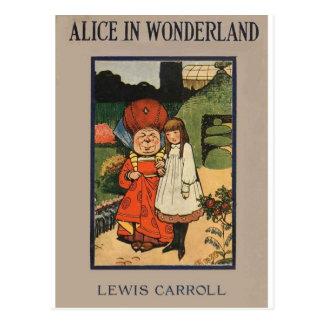 Alice in Wonderland Book Cover Postcard