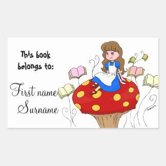Alice in Wonderland Book Label