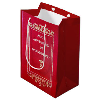 Alice in Wonderland Book Medium Gift Bag