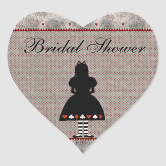 Alice in Wonderland Bridal Shower Stickers