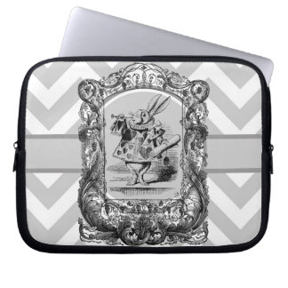 Alice in Wonderland Bunny Francy Laptop Sleeve