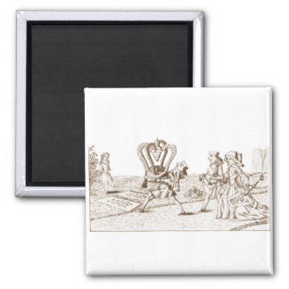 Alice in Wonderland By Lewis Carroll Sepia Tint Square Magnet