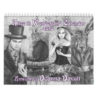 Alice in Wonderland Calendar 2016 Deanna Davoli