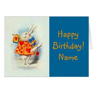 Alice in Wonderland ~ Card Rabbit Red Hearts