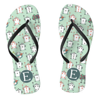 Alice In Wonderland | Card Soldiers - Monogram Flip Flops