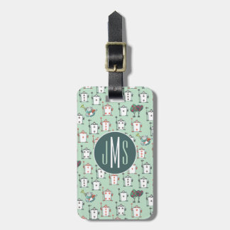Alice In Wonderland | Card Soldiers - Monogram Luggage Tag