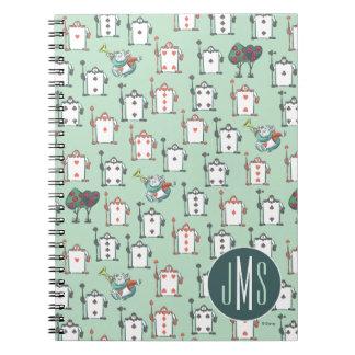 Alice In Wonderland | Card Soldiers - Monogram Spiral Notebook