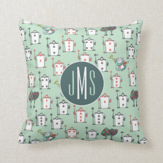 Alice In Wonderland | Card Soldiers - Monogram Throw Pillow