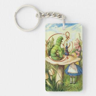Alice in Wonderland Caterpillar Drink Me Keychain