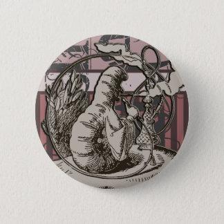 Alice In Wonderland Caterpillar Grunge (Pink) 2 Inch Round Button