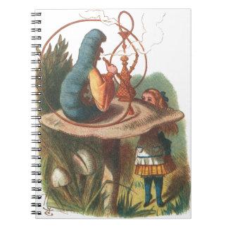 Alice in Wonderland Caterpillar Spiral Note Books