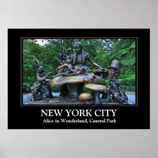 Alice in Wonderland - Central Park NYC Poster