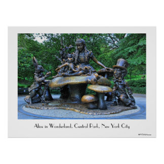 Alice in Wonderland - Central Park NYC Poster