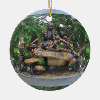 Alice in Wonderland - Central Park NYC Round Ceramic Ornament