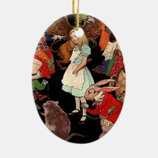 Alice in Wonderland Ceramic Ornament