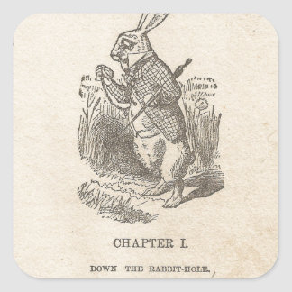 Alice In Wonderland, Chapter One, Down the Rabbit Square Sticker
