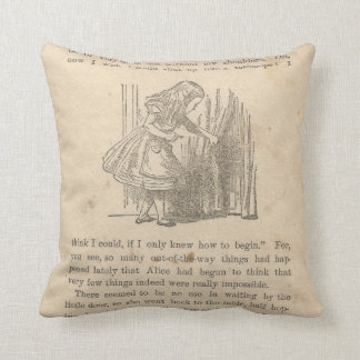 Alice In Wonderland Chapter One, Down the Rabbit Throw Pillow