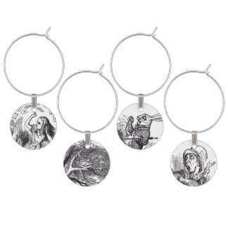 Alice in Wonderland Character Wine Charm