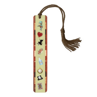 Alice in Wonderland Cherry Bookmark